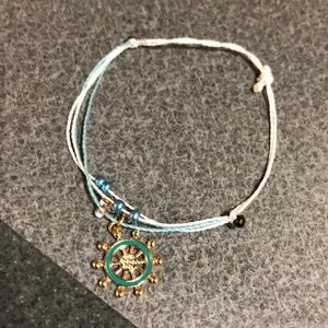 Waxed Ocean Bracelet (Adjustable)